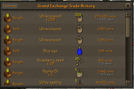 100 Ranarr VS 100 Toadflax Seeds on a low level account. Ultra_10