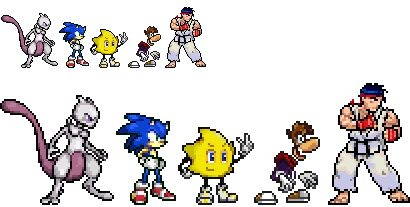 Nicrom's Sprites (Rayman, Ristar and Mewtwo) Sprite15