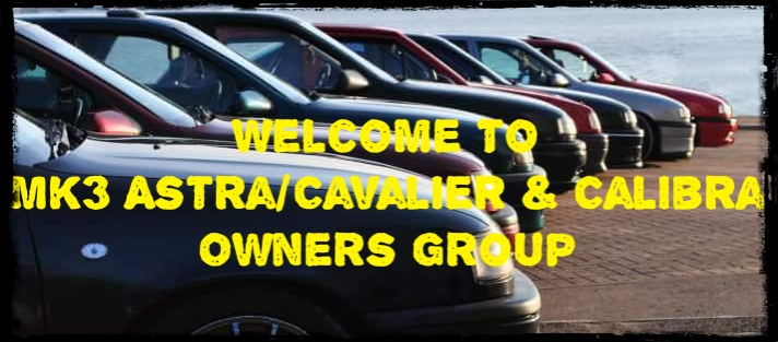 Mk3 Astra/Cavalier & calibra Owners Group