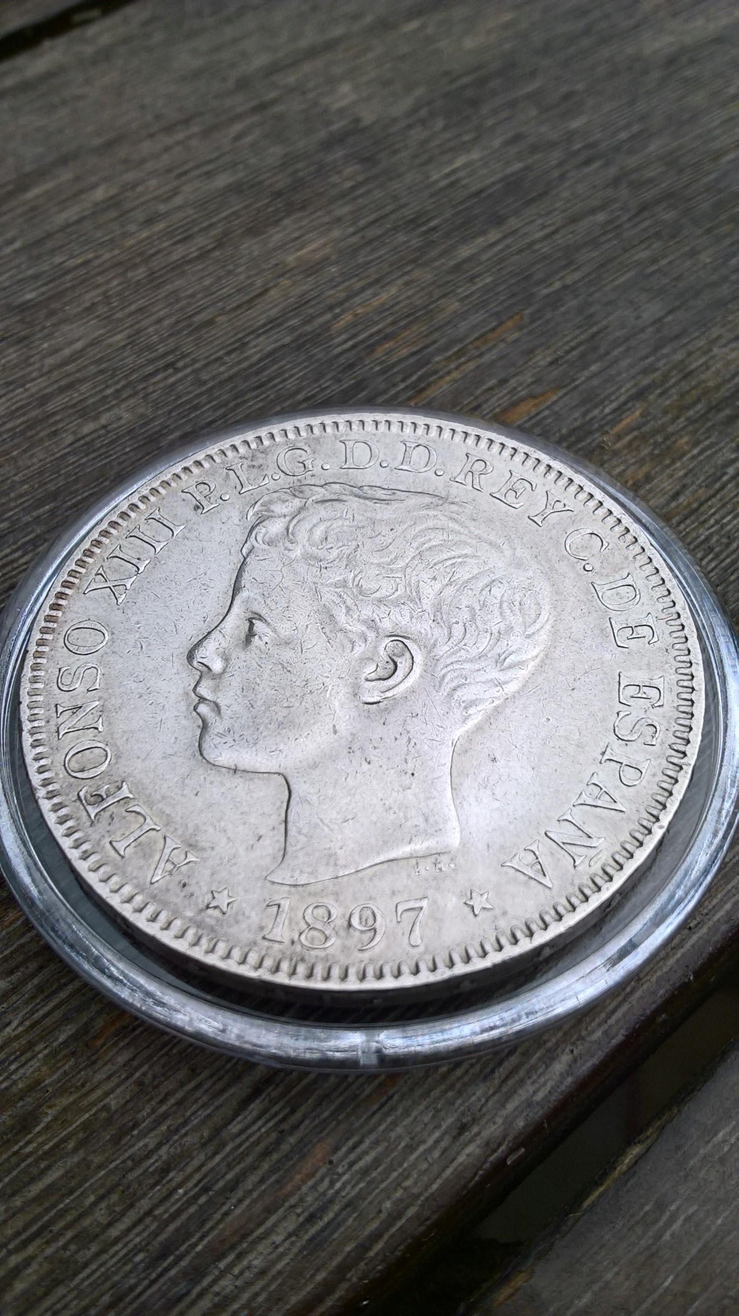 1 peso de Islas Filipinas. Alfonso XIII 1897 ¿estado de conservación? Anvers10