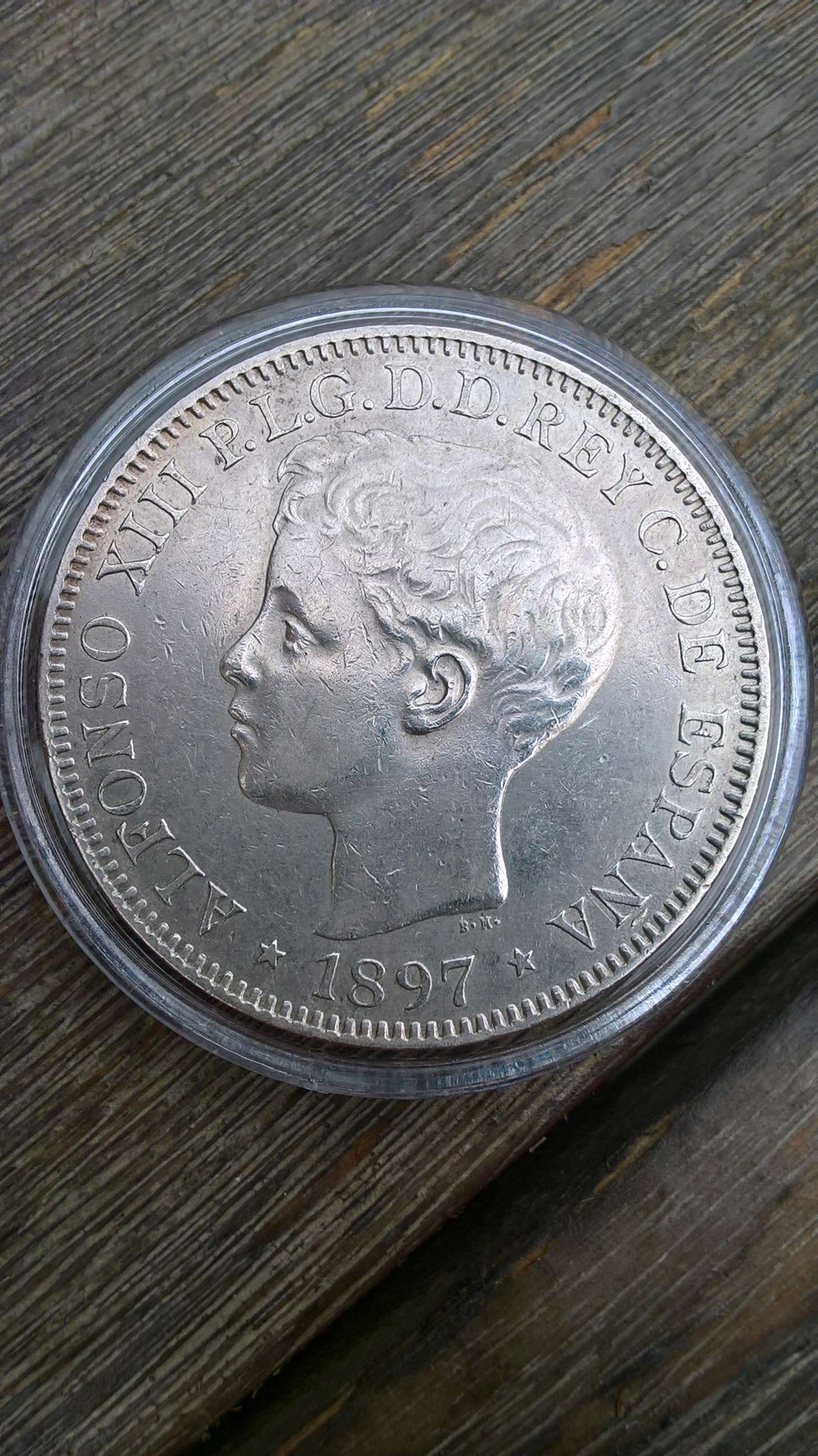 1 peso de Islas Filipinas. Alfonso XIII 1897 ¿estado de conservación? Anvers11