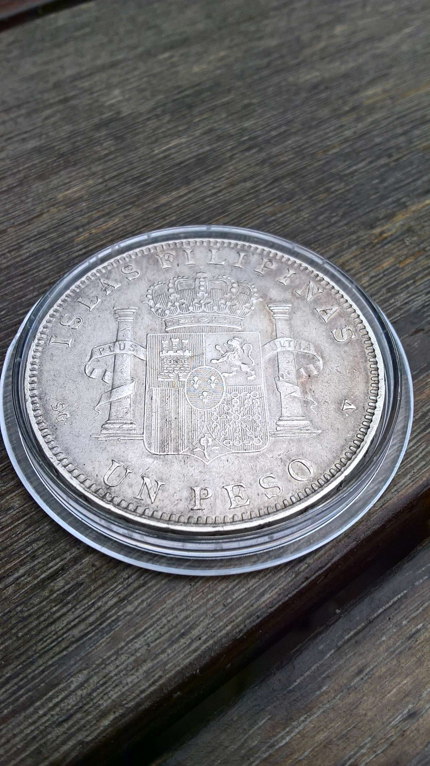 1 peso de Islas Filipinas. Alfonso XIII 1897 ¿estado de conservación? Revers10