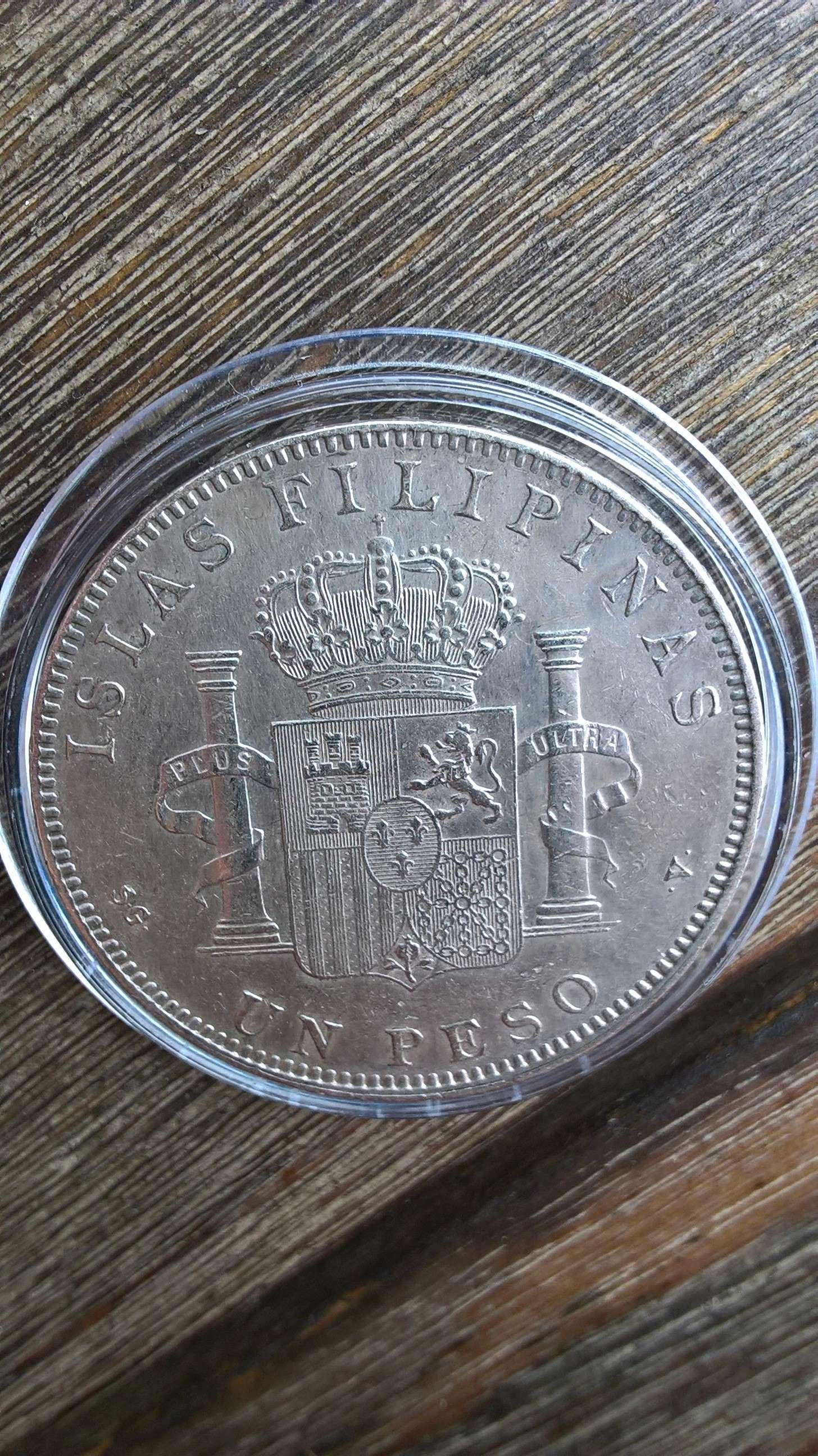 1 peso de Islas Filipinas. Alfonso XIII 1897 ¿estado de conservación? Revers11