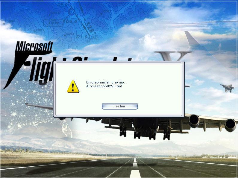 Exclui o ultraleve e o Flight Simulator X não abre direito e fica com tela preta. Tem solução? Erro_f11
