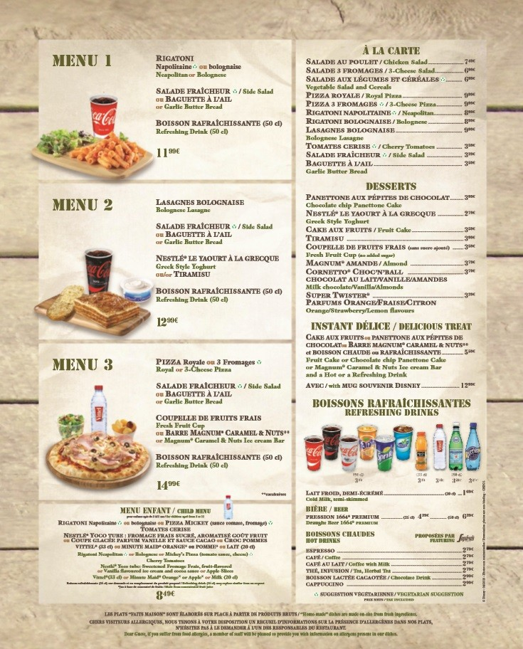 Menu ristorazione rapida 001b1310