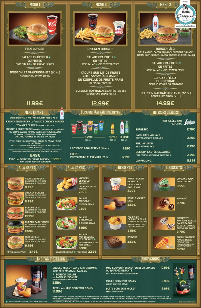 Menu ristorazione rapida Hyperi10