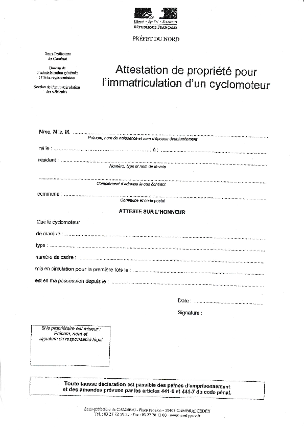 immatriculation 20180510