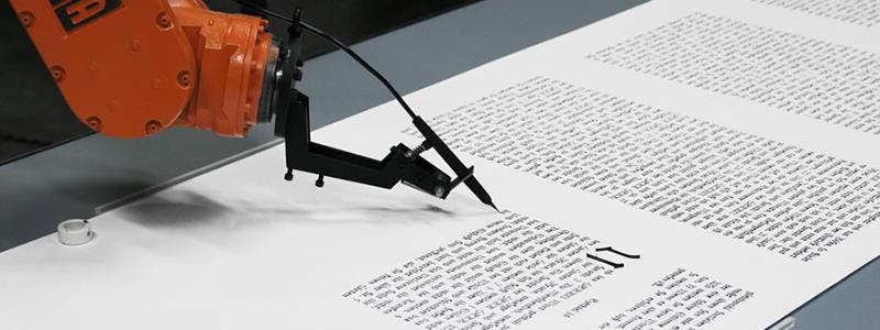 the Bible Scribe - Robotlab Header19