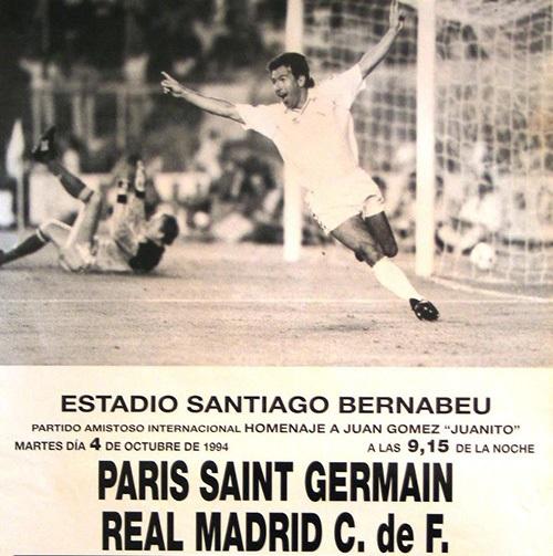 Homenaje a Juanito 1994 - Real Madrid Vs. Paris Saint Germain (360p) (Castellano) Histor10