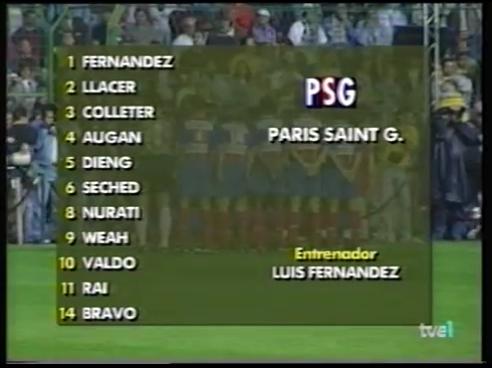 Homenaje a Juanito 1994 - Real Madrid Vs. Paris Saint Germain (360p) (Castellano) Homena12