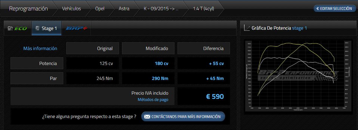 EXPERIENCIAS Repro Astra K 1.4T 125cv -> 180cv  Stage_10