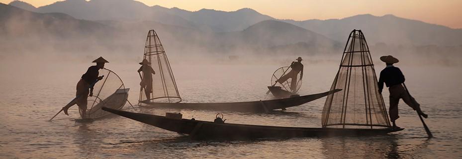 Balade en SUP sur le lac Inya au coeur de Yangon Inle_l10
