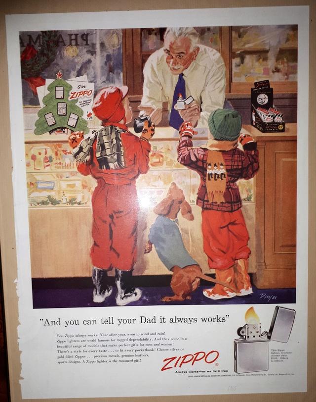 Fac similé zippos anciens 195510