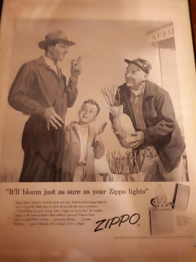 Fac similé zippos anciens 195610