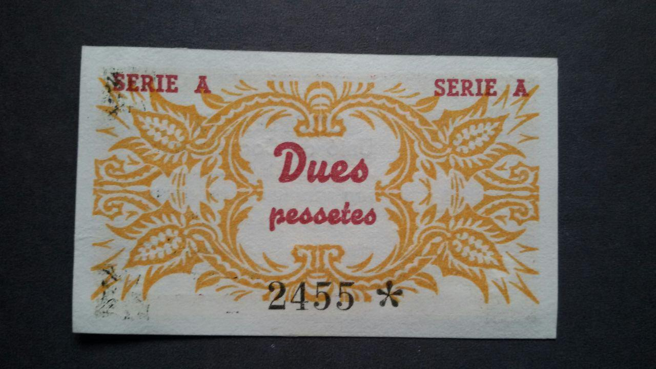 2 pesetas Unió de Cooperadors d'Igualada, 1938 Photo_24