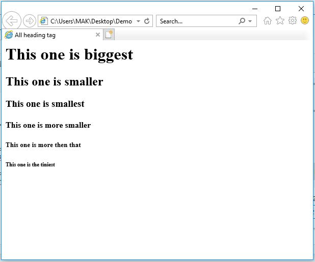 HTML শেখা। তৃতীয় পর্ব। #HTML Headin10