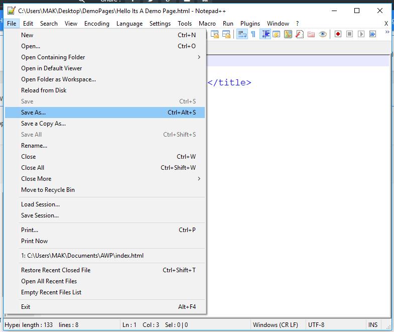 HTML শেখা। দ্বিতীয় পর্ব। #HTML Screen15