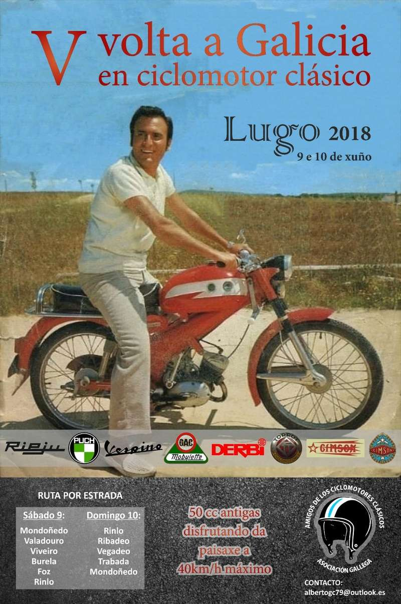 V Volta a Galicia en Ciclomotores Clásicos Voltad10