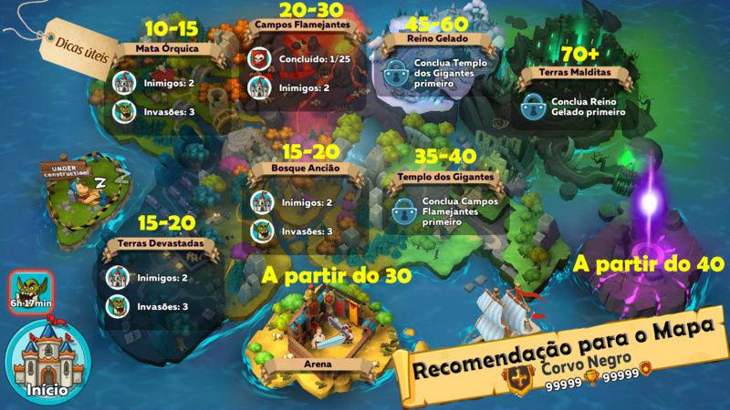 Recomendação para o mapa do modo história Recome10