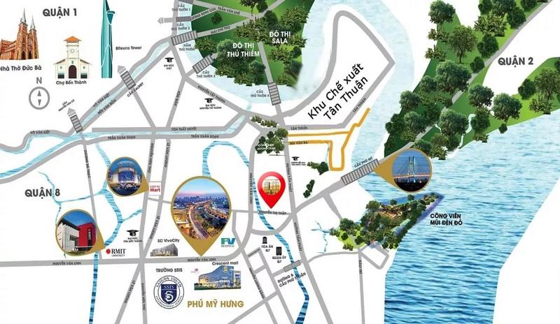 SOUTH GATE TOWER-CĂN HỘ CAO CẤP CHỈ 35TR/M2 NGAY TRUNG TÂM QUẬN 7  Vi-tri12