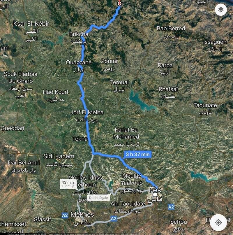 [Le carburant, les routes, la police... au Maroc] route entre Chefchaouen et Fez  Img_1710