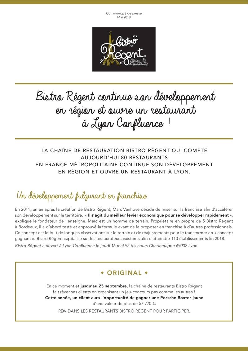 Bistro Régent ouvre un nouveau restaurant à Lyon Confluence ! Bistro14