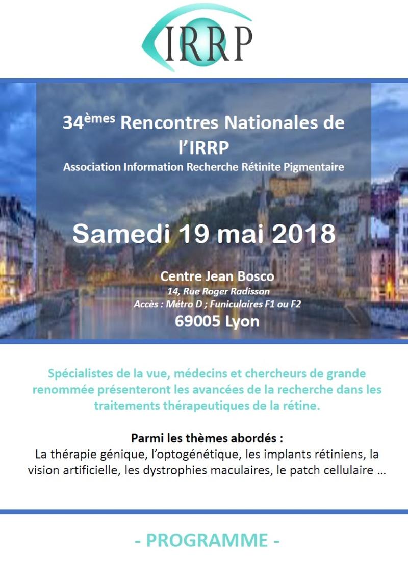 A Lyon, les rencontres nationales de l'IRRP (Recherche Rétinite Pigmentaire) Image111