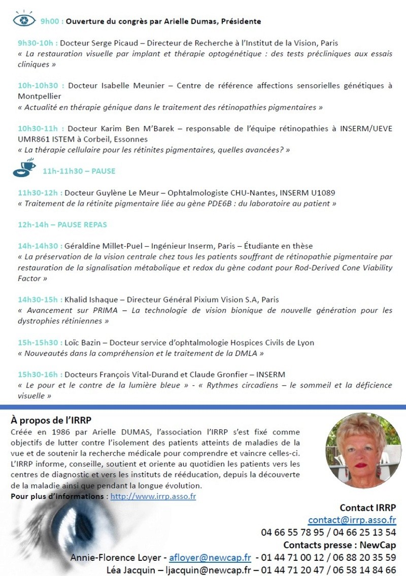 A Lyon, les rencontres nationales de l'IRRP (Recherche Rétinite Pigmentaire) Image211