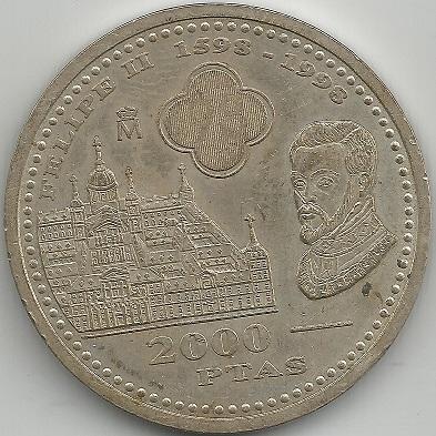 2000 pesetas 1998. Juan Carlos I  2000cr10