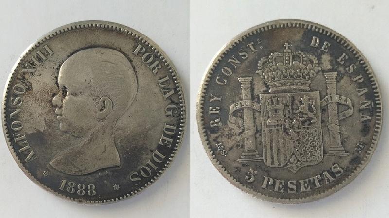 5 pesetas alfonso XIII Alfons12