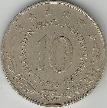 10 dinara yugoslavia 1976 Yugosl10