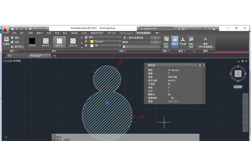 AutoCAD教學 幾何圖形習題03 T310