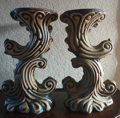 2 x Plant / Vase Stands - 45cm High - Both Marked 393/45 - Photographs  Stand210