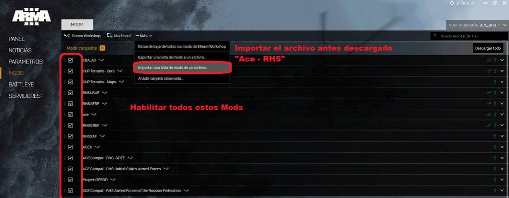Configuración de Addons para Arma III  Mods_s10