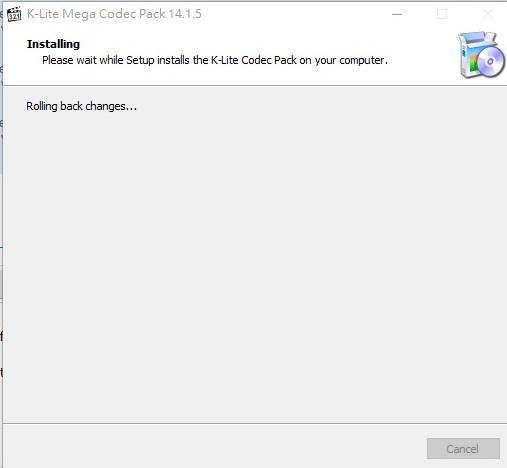 """Installation problem of K-Lite Mega Codec Pack 14.1.5 stop at """"Registering files..."""" K-lite13"""