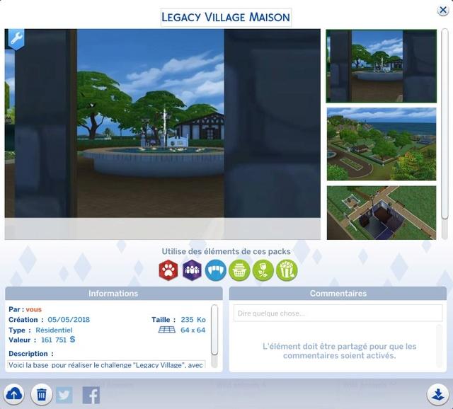 Sims 4 LEGACY VILLAGE Legacy12