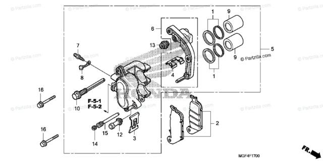 06 Honda SW rear brake caliper Mjaznt10