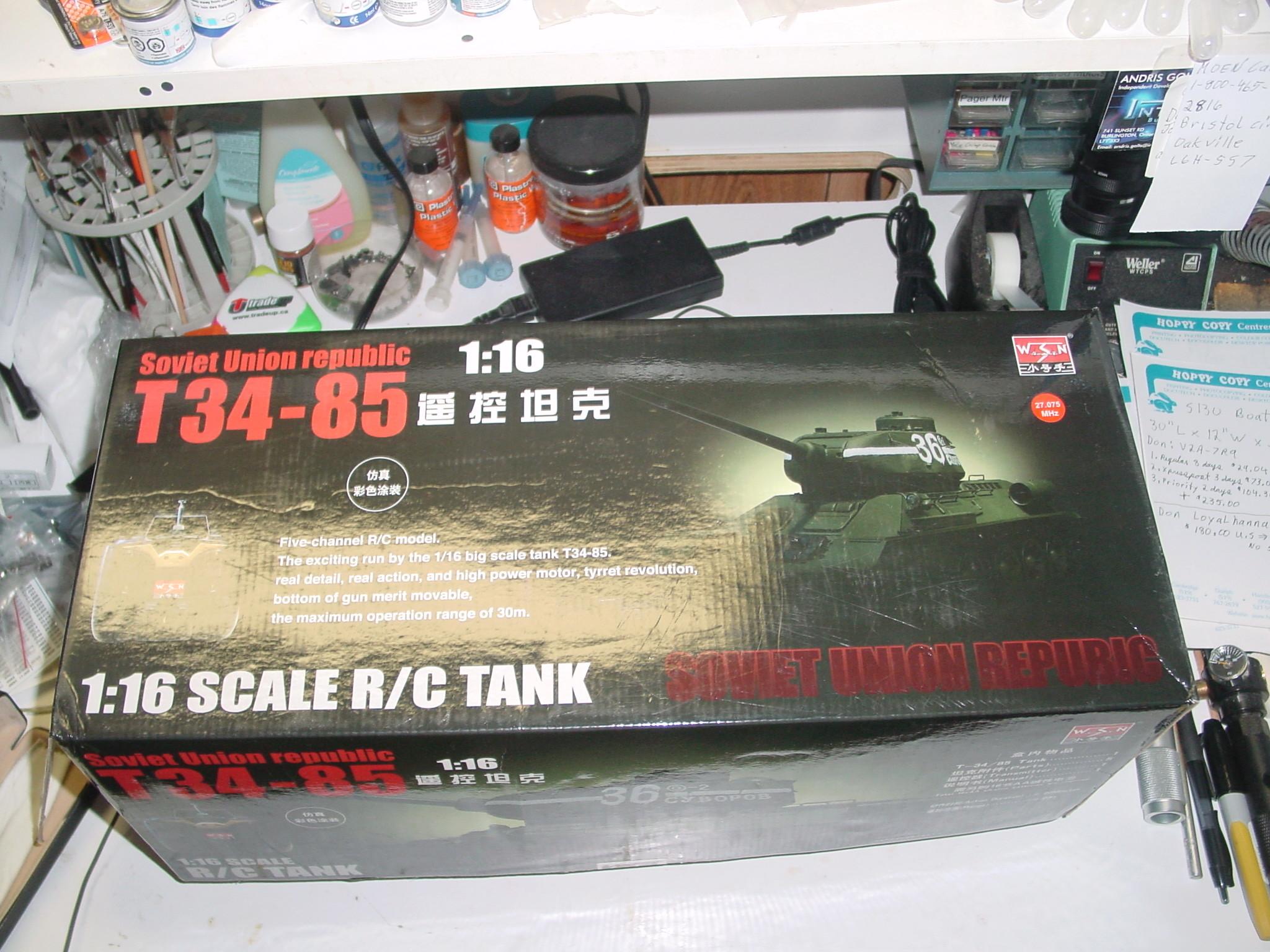 1/16 WSN T34/85 Factory R.C Tank Dsc00019