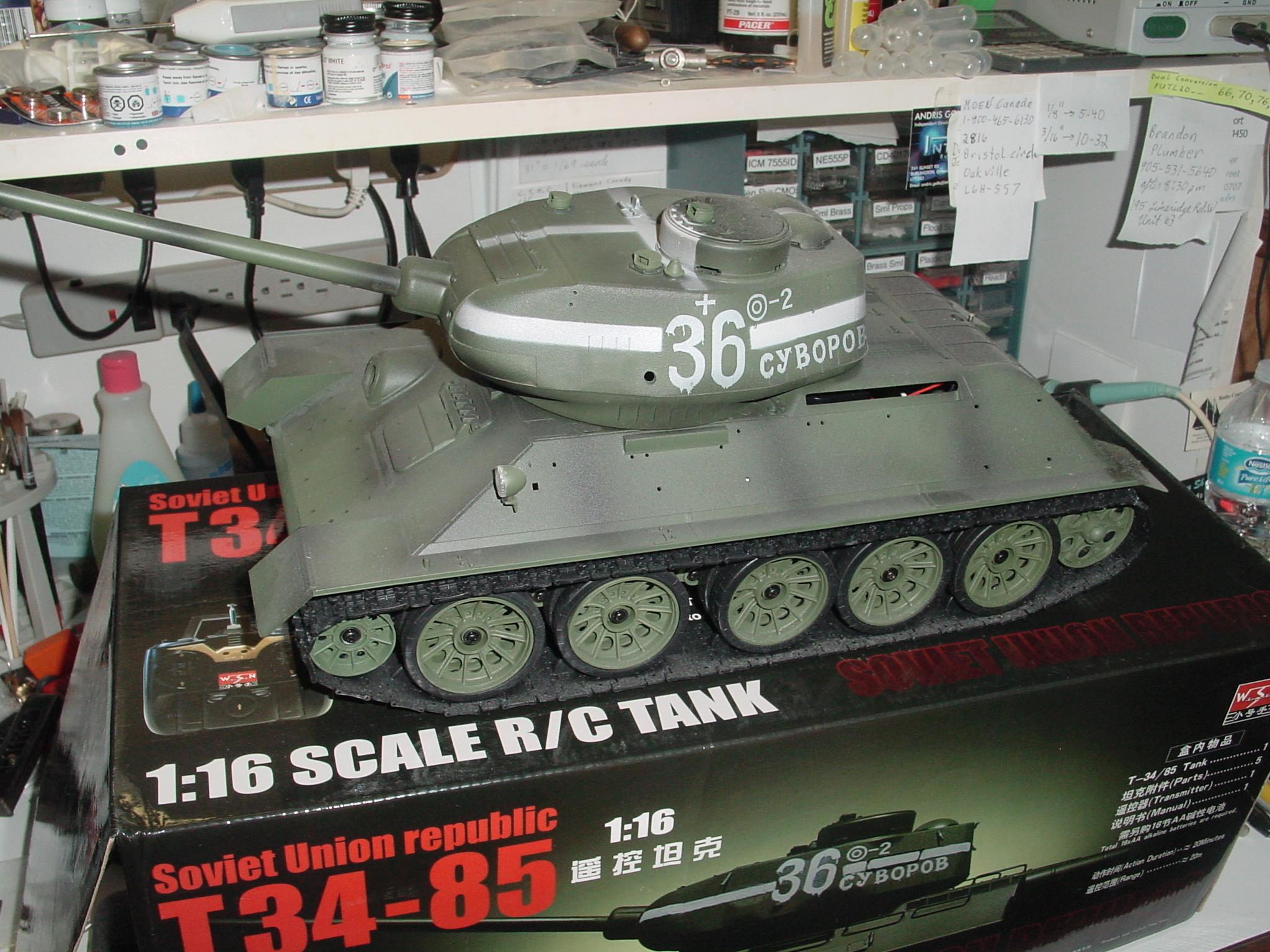 1/16 WSN T34/85 Factory R.C Tank Dsc00021