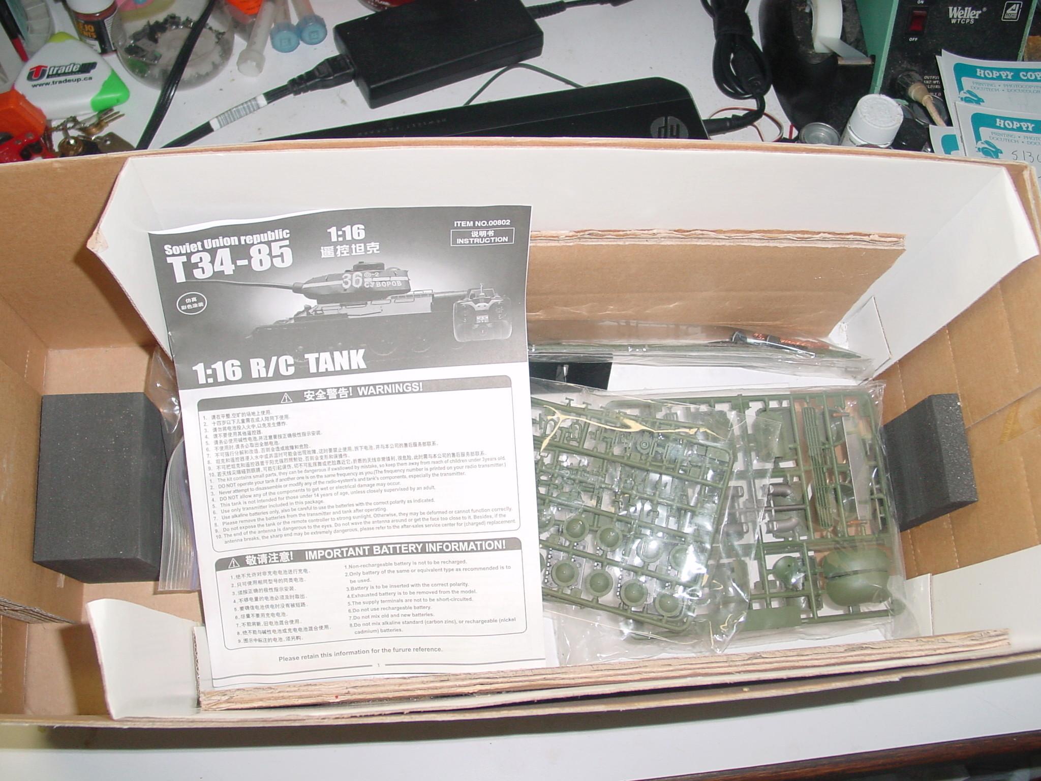 1/16 WSN T34/85 Factory R.C Tank Dsc00022