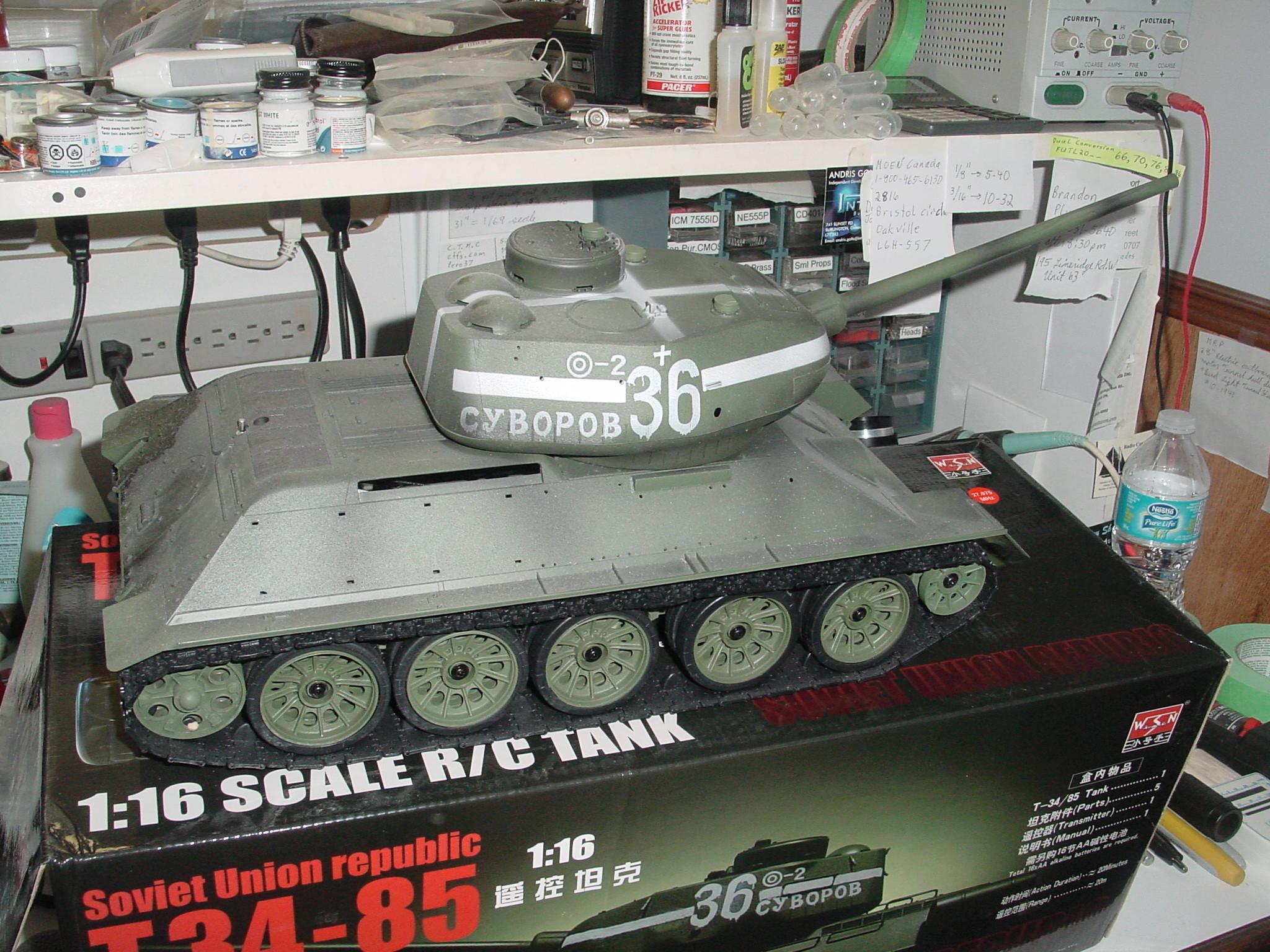 1/16 WSN T34/85 Factory R.C Tank Dsc00023