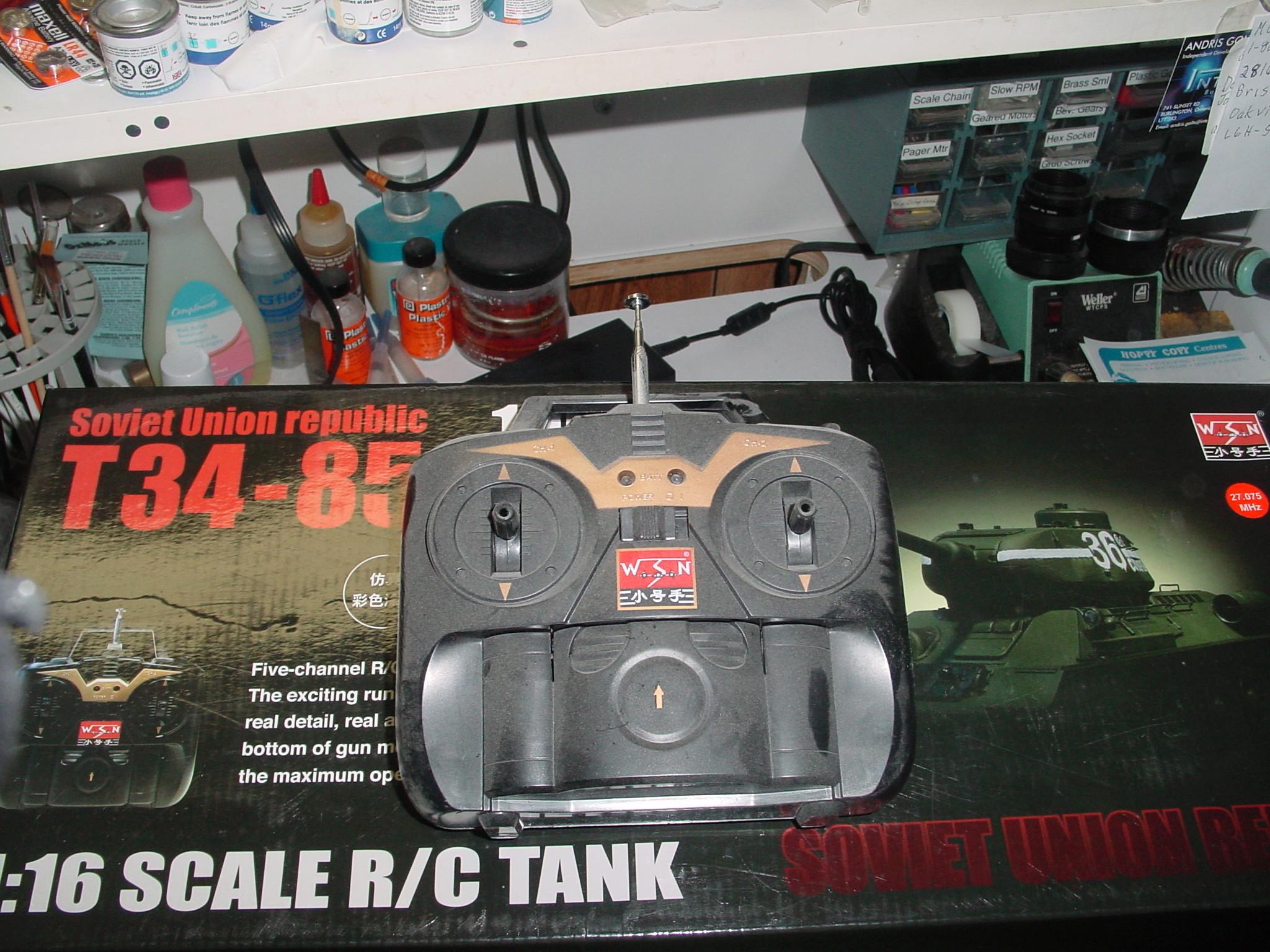 1/16 WSN T34/85 Factory R.C Tank Dsc00024