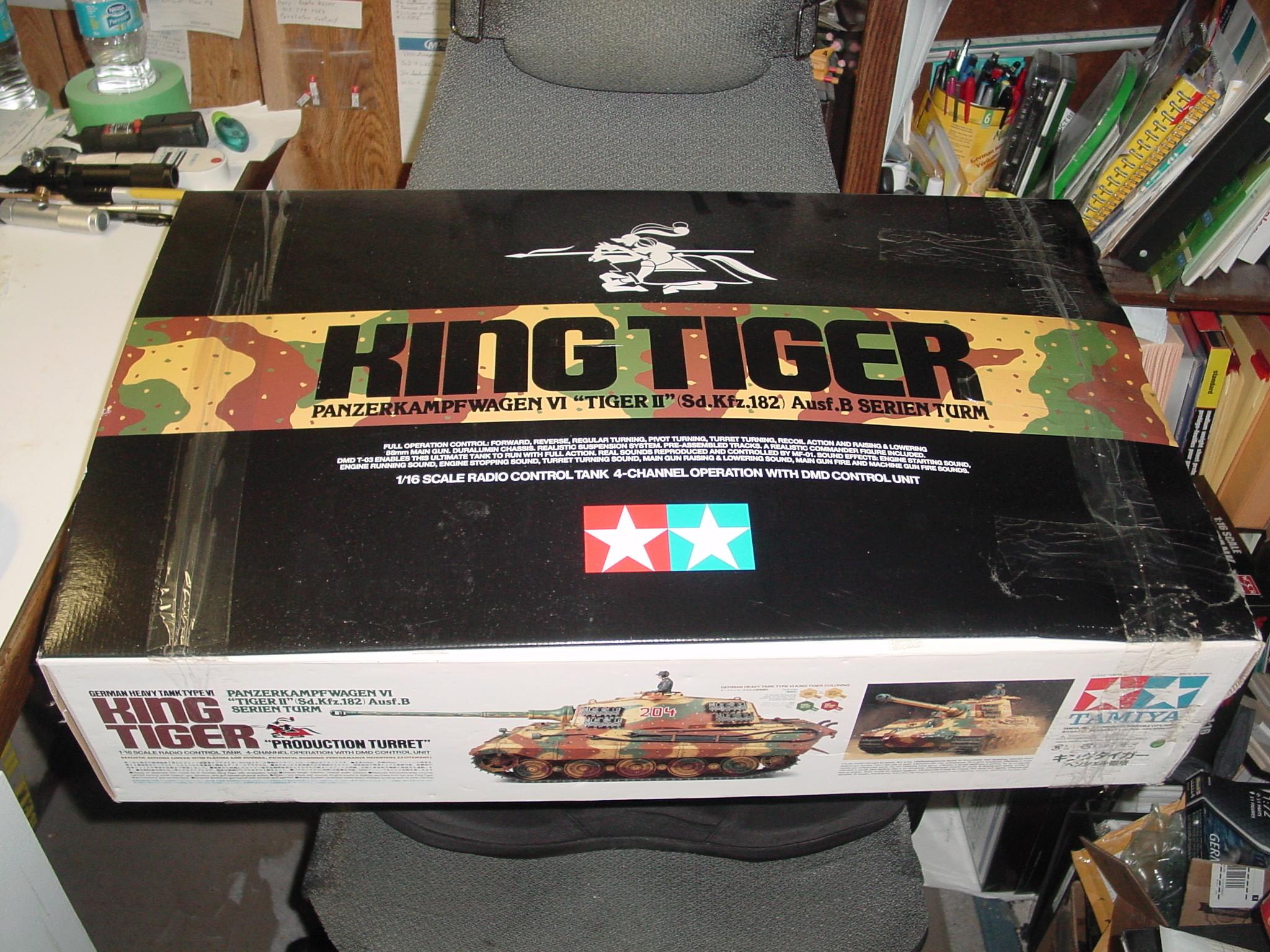 Unbuilt Tamiya 1/16 King Tiger Tank for Sale Dsc00027