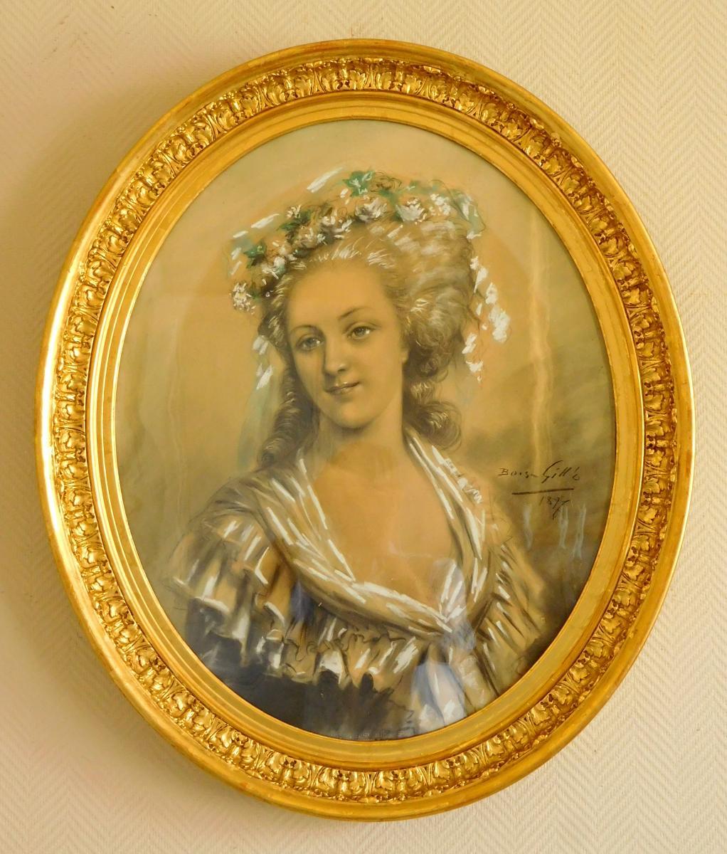 Grand portrait de Marie-Antoinette ou de la princesse de Lamballe 35620710