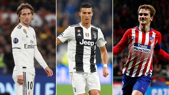 Luka Modric, Cristiano Ronaldo, Antoine Griezmann
