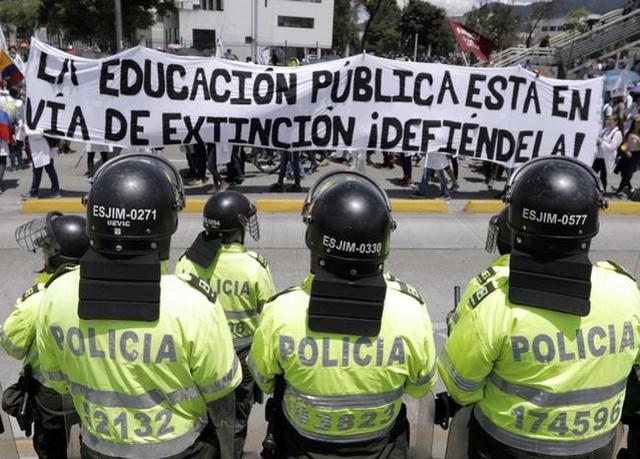 Protestas estudiantiles Bogota