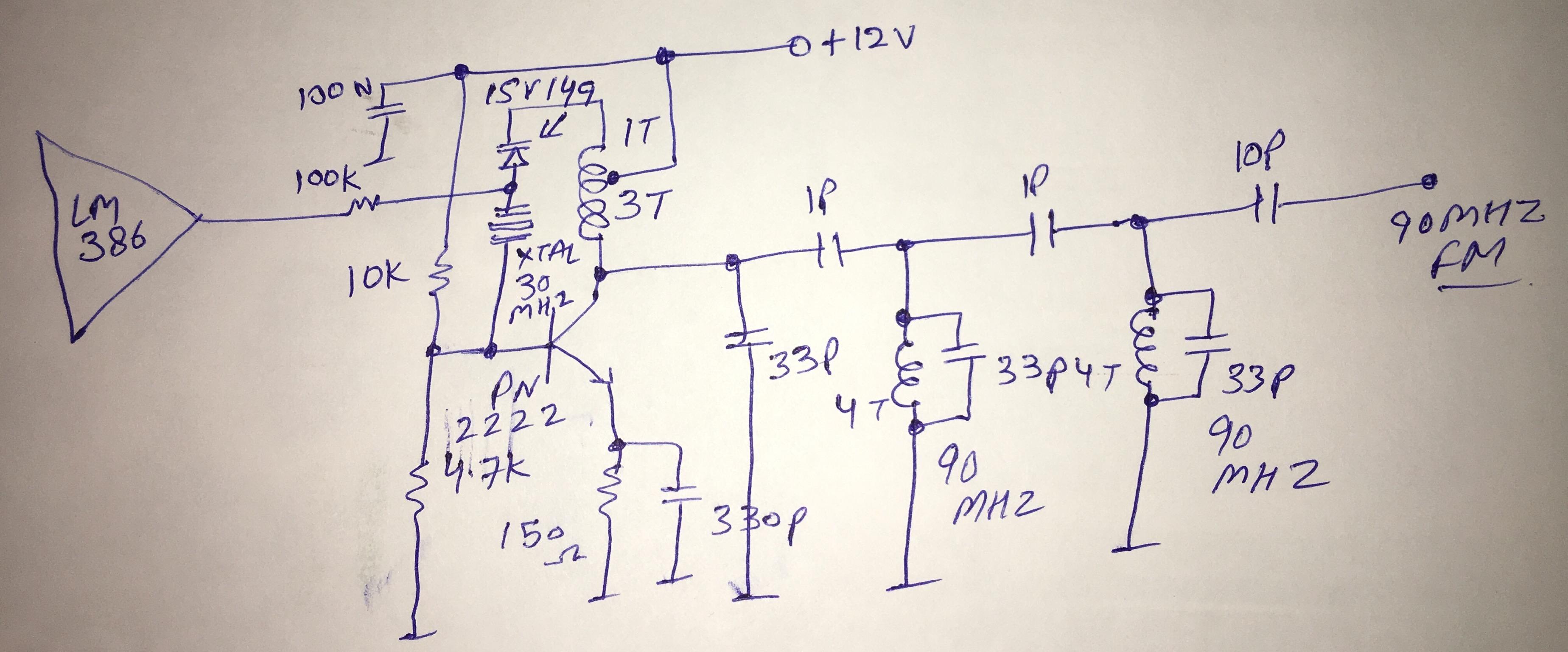 10 mW NBFM Transmitter Schematic  1f8fe610