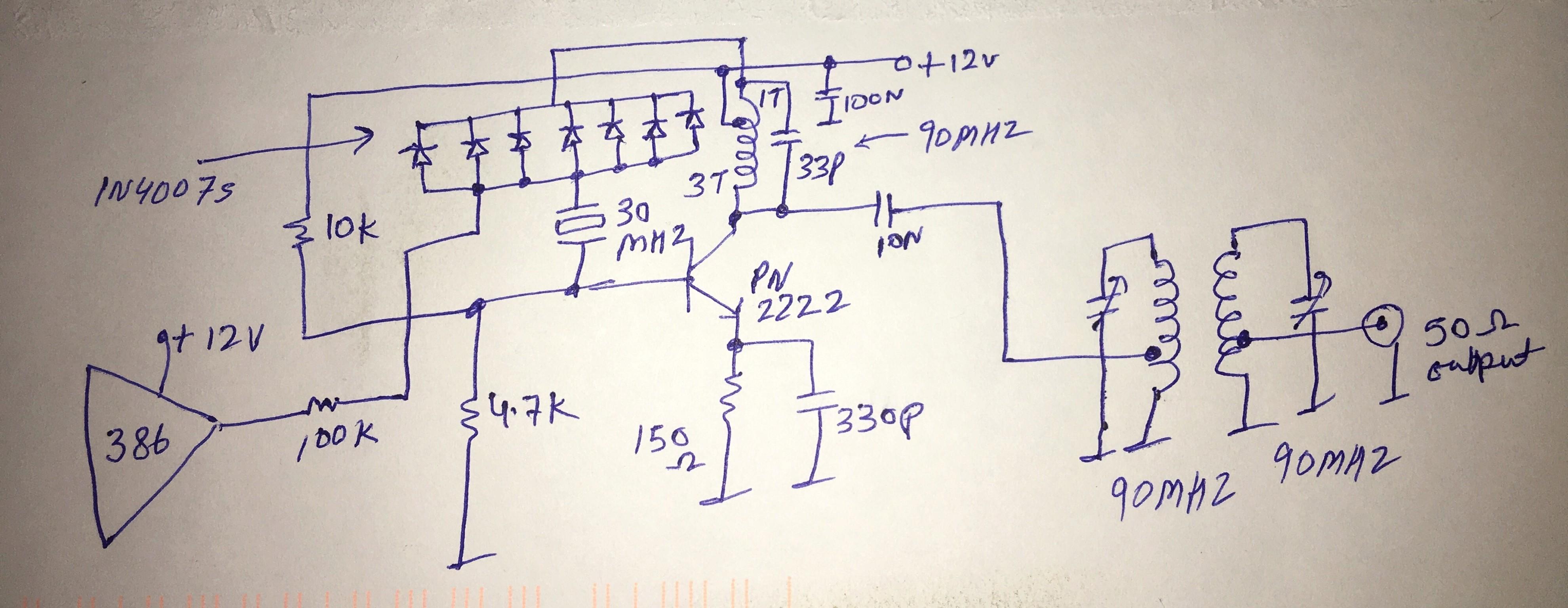10 mW NBFM Transmitter Schematic  54d96f10