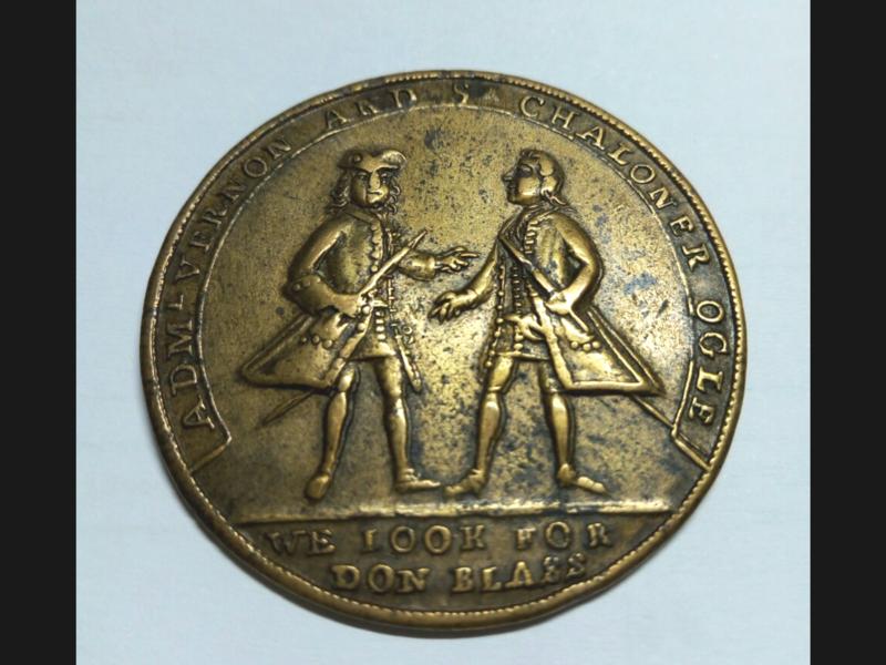 Medalla Vernon- Ogle. Toma de Cartagena 1741 20180612