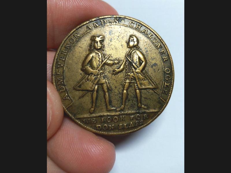 Medalla Vernon- Ogle. Toma de Cartagena 1741 20180613